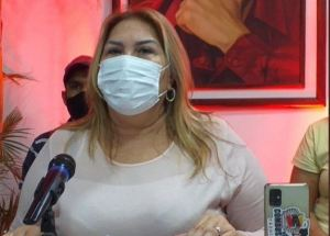 La vocera chavista, Nellyver Lugo, confirmó que dio positivo por coronavirus