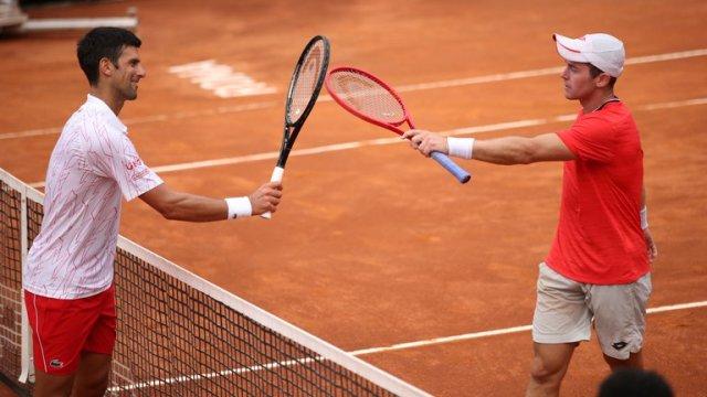 El Insolito Error De Un Juez En El Partido De Djokovic Del Masters De Roma Video