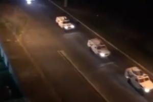 Una enorme caravana de la GNB anuncia la suspensión del servicio de gasolina en Puerto Ordaz (VIDEO)