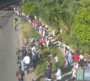 Inmensa cola para ingresar a la sede del Saime Los Teques por operativo de cedulación #19Oct