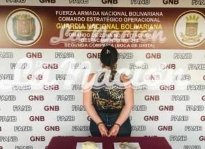 Mujer que ocultaba droga en sus partes íntimas fue aprehendida en Boca de Grita