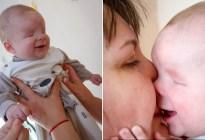El bebé que nació sin ojos encontró una familia luego de que su madre lo abandonara