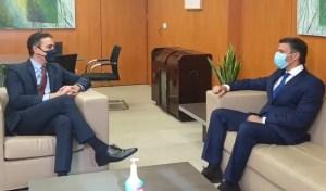 EN VIDEO: Pedro Sánchez se reunió con Leopoldo López en Madrid