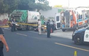 Joven venezolana murió arrollada por un camión del aseo urbano en Panamá (FOTO)