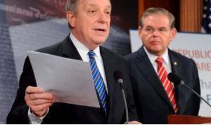 Senadores de EEUU Menendez y Durbin denunciaron chantaje electoral anticipado ante fraude del #6Dic