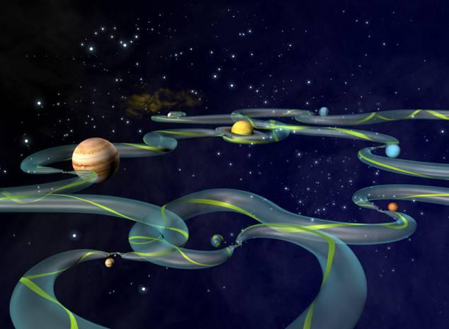 Superautopistas gravitacionales allowirán vuelos espaciales en tiempo récord dentro del Sistema Solar
