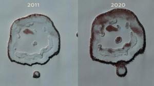 La Nasa detecta cambios en el cráter de la 'carita feliz' en Marte