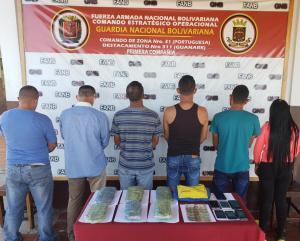 Detienen en Portuguesa a seis sujetos por presunto tráfico de drogas