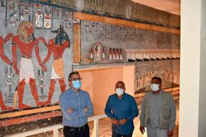 Egipto reabrió la tumba del faraón Ramses I tras su delicada restauración (FOTOS)