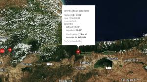 Sismo de magnitud 3,0 sacudió Valencia #18Ene