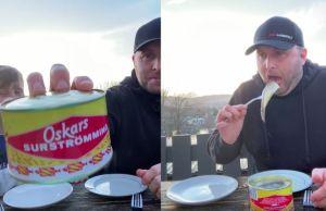 Familia hizo el reto de comer un pescado con mal olor y todo terminó en un desastre (VIDEO)