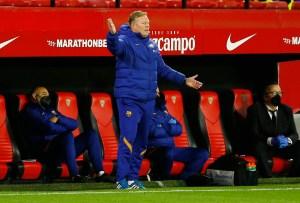Koeman cree que el Barça no consigue rematar victorias por miedo
