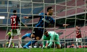 El Inter se llevó el derbi de Milán con goles de Lautaro y Lukaku