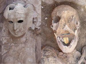 Unas 16 momias con lenguas doradas fueron descubiertas en un cementerio con 2.000 años de antigüedad