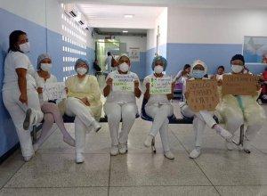 Médicos denunciaron que la policía no les permitió manifestarse en Maracay