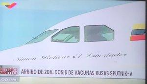 Arriba a Venezuela segunda dosis de la vacuna Sputnik V (Foto)