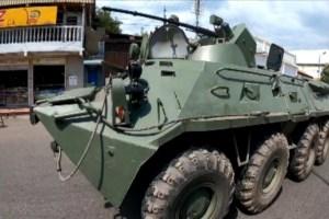 Con tanquetas oxidadas, participan en ejercicios militares en homenaje a Hugo Chávez en el Táchira #6Mar (Fotos)