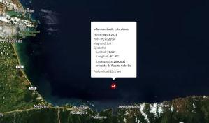 Sismo de magnitud 2,6 se registró en Puerto Cabello este #4Mar