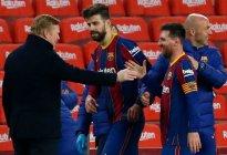 """""""Se van a casa calentitos"""": El tenso cruce entre Messi y el Sevilla tras la semifinal de Copa"""