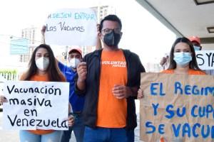 """Jóvenes de Voluntad Popular: """"La vacuna es un derecho de todos los venezolanos"""""""