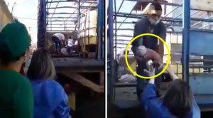 Tragedia sanitaria: Venezolana tuvo que dar a luz en un camión frente un hospital en Guárico (VIDEO)