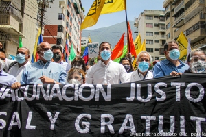 Guaidó desde la marcha del sector salud: La mejor vacuna para Venezuela es estar juntos para salir de esta tragedia