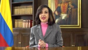 Canciller de Colombia Claudia Blum renuncia al cargo, su reemplazo temporal será Adriana Mejía
