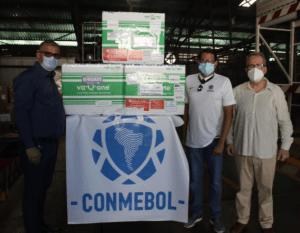 Fútbol venezolano recibió vacunas contra coronavirus donadas por Conmebol