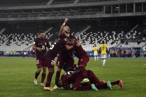 Dos cabezazos mantienen las ilusiones Vinotinto en la Copa América