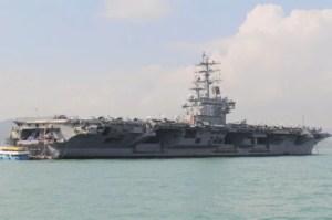 EEUU desplegó el portaaviones USS Ronald Reagan en el Mar del Sur de China