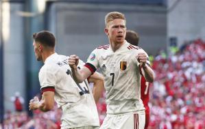 Con un gol de De Bruyne, Bélgica doblegó a una Dinamarca conmovedora