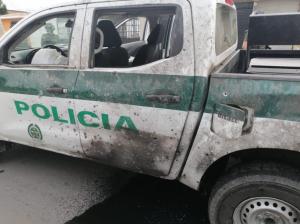 Atacaron patrulla policial con fuerte explosivo y disparos de fusil en Arauquita (Fotos)