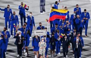 IMÁGENES: Así fue el desfile de la delegación venezolana durante la ceremonia de inauguración de Tokio 2020