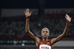 Athletics-Rojas stays on course to make golden leap for Venezuela