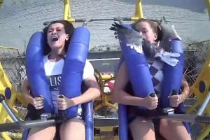 ¡Qué susto! Una gaviota se estrelló contra la cara de una joven en parque de diversiones de EEUU (VIDEO)
