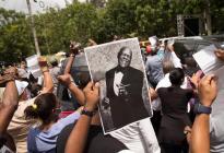 Cientos de personas acudieron para despedir al merenguero dominicano Johnny Ventura