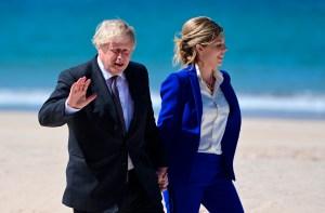 Boris Johnson y su esposa esperan su segundo hijo