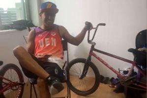 El venezolano Edy Alviarez recuperó su bicicleta, hurtada en la Villa Olímpica (Video)