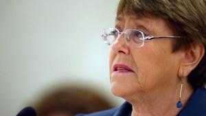 Michelle Bachelet pidió la liberación de manifestantes e insta al diálogo en Cuba
