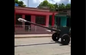 Régimen castrista sacó aviones y morteros para amedrentar a cubanos (Foto y video)