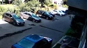 Una mujer vio que un bebé estaba por caer desde un edificio, dejó sus bolsas, lo atajó y se lo entregó a sus padres (VIDEO)