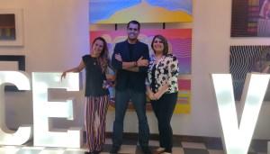 """Alejandro, Paula y Tatiana presentaron """"Conversación entre 3"""", su galería de arte en La Dolce Vita"""