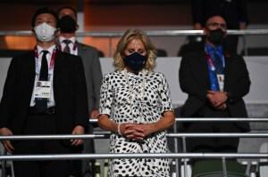 Jill Biden representó a EEUU en la ceremonia de apertura de los Juegos Olímpicos de Tokio (FOTOS)