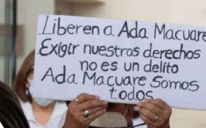 Gremio de la salud denunció que Ada Macuare sufrió crisis hipertensiva tras detención