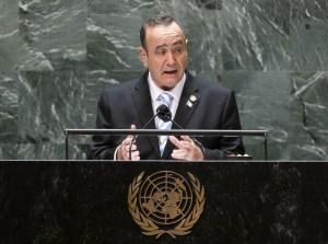 Giammattei ante la ONU: El 95 % de los aviones con drogas que llegan a Guatemala salen de Venezuela