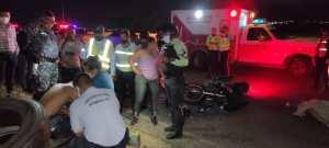 Mujer perdió la vida en San Cristóbal tras un accidente en moto