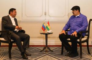 Luego de su accidentada participación en la Celac, Maduro hizo migas con Arce