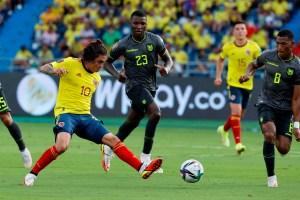 Colombia y Ecuador empataron tras partido marcado por decisiones del VAR
