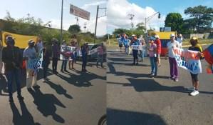 Bolívar: Vecinos de Villa Africana trancaron calles por sexta vez por la falta de agua