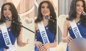 Problemas con el vestido dejan al descubierto la zona íntima de esta candidata al Miss Venezuela 2021